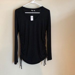 Gap sweater with side ruching